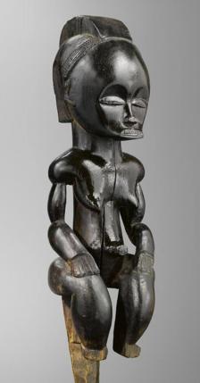 "Fang peoples, Betsi group (Gabon or Equatorial Guinea), ""The Black Venus"" (aka ""eyema byeri"" and ""Pahouin Venus,"" 19th century)"
