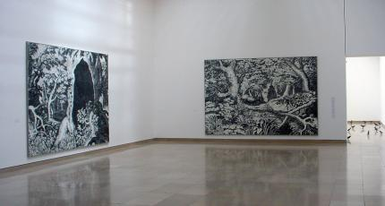 Installation view of 'Ugo Rondinone: Becoming Soil' at the Carré d'Art