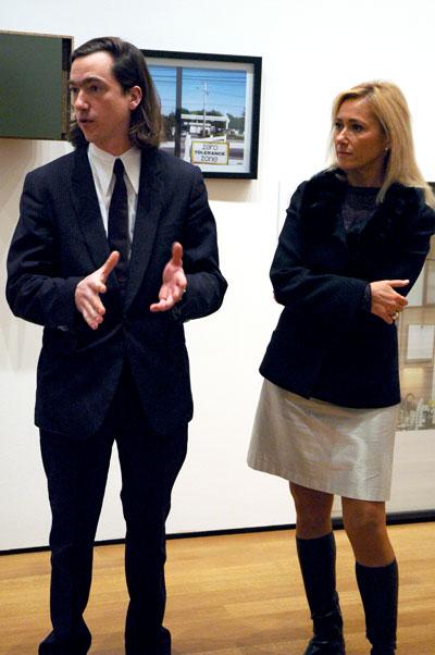 Jan de Cock with MoMA curator Roxana Marcoci