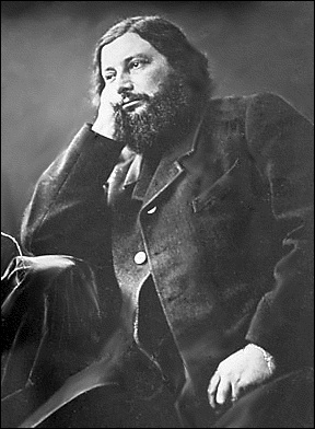 Gustave Courbet (portrait by Nadar; public domain)