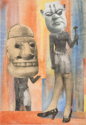 "Hannah Hoch, ""From the Collection of an Ethnographic Museum No. IX"" (1929) collage"