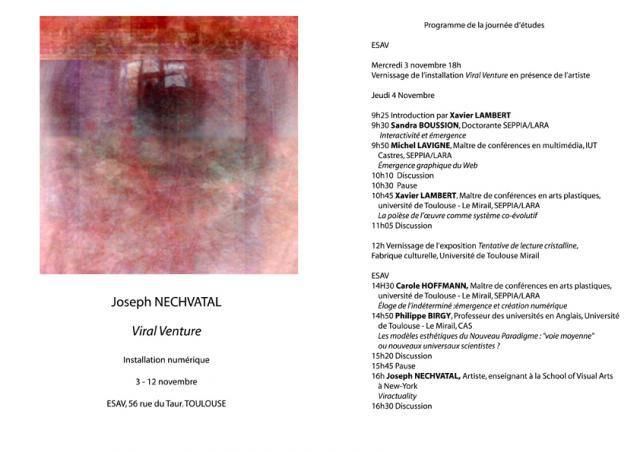 exhibition and lecture at Université de Toulouse