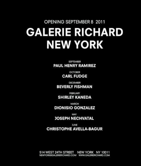 Richard Gallery Opening in New York in September