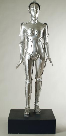 "Walter Schulze-Mittendorff, ""Robot from Fritz Lang's film Metropolis"" (1926), copy created by the Louvre in 1994, résine peinte,"