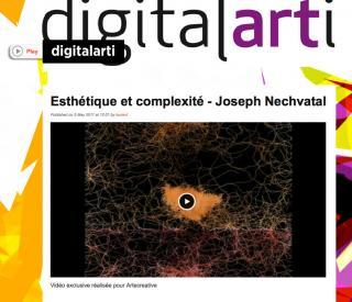 Esthétique et complexité - Joseph Nechvatal  Vidéo exclusive réalisée pour Artecreative