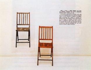 One in three chairs, 1965, Joseph Kosuth