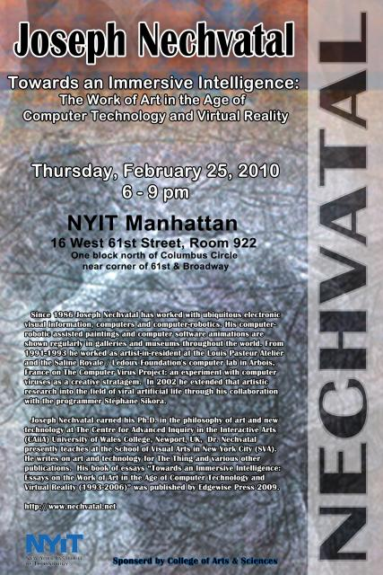 NYIT Lecture/Demo Poster
