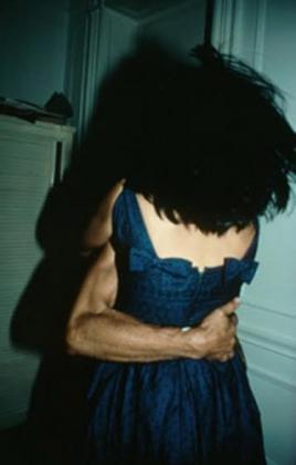 "Nan Goldin, ""The Hug"" (1980) cibachrome, 40 x 30 inches"